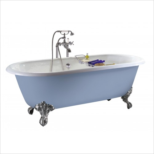 Heritage Bathtubs - Baby Buckingham Roll Top Cast Iron Bath, No Tap Hole