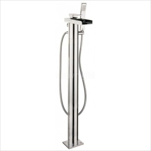 Crosswater Showers - Water Square Bath Shower Mixer With Kit, Floor Standing