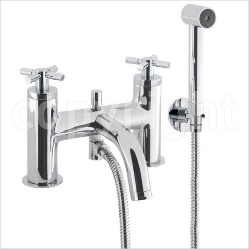 Crosswater Showers - Totti Bath Shower Mixer Wth Kit, Deck Mounted