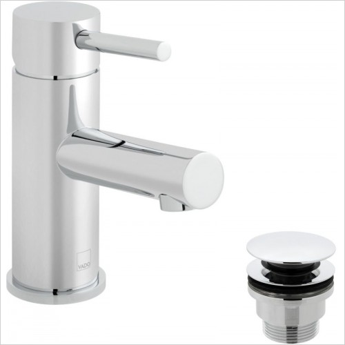 VADO Taps - Zoo Mono Basin Mixer Single Lever Smooth Bodied Deck Mounted