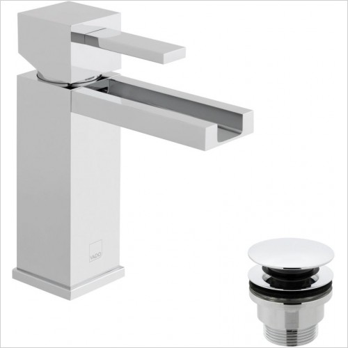 VADO Taps - Té Falls Mono Basin Mixer Single Lever Smooth Bodied