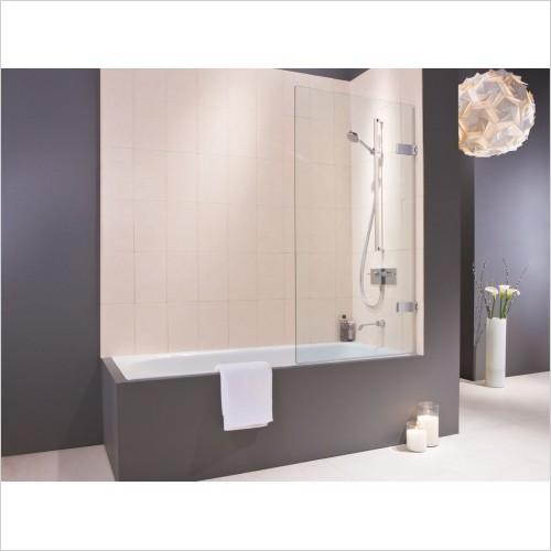 Matki Shower Enclosures - Wall Hinged Bath Screen 700mm
