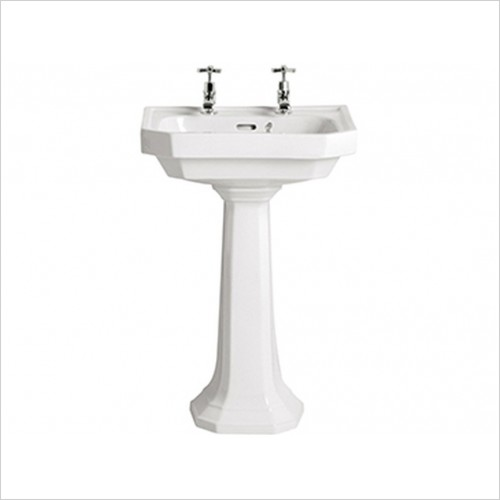 Heritage Basins - Granley Deco 55cm Basin 2 Tap Hole