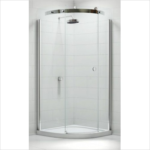 Merlyn Shower Enclosures - 10 Series 1 Door Quad 800mm  Inc Shower Tray