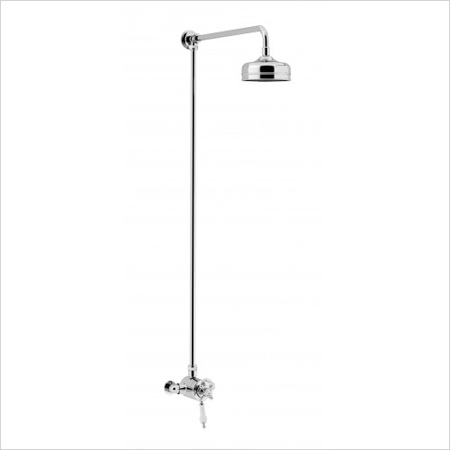 Heritage Showers - Hartlebury Exposed Shower With Premium Fixed Riser Kit