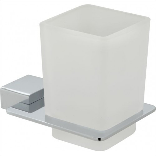 VADO Accessories - Phase Frosted Glass Tumbler & Holder Wall Mounted