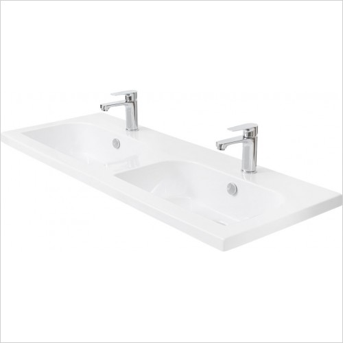 Miller Optional Accessories - London/New York Basin D Shaped For 566/266 Vanity 121cm