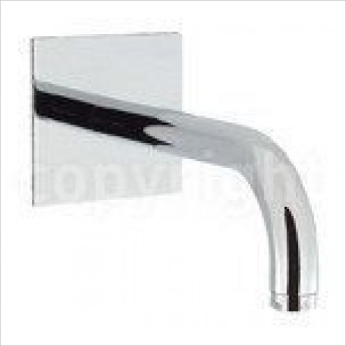 Crosswater Taps - Design Bath Spout 160mm, Wall Mounted