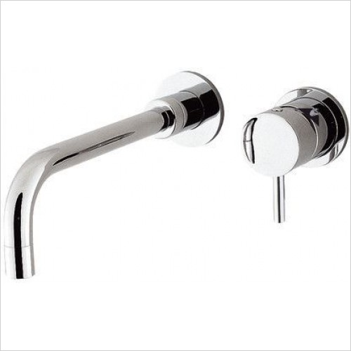 Crosswater Taps - Kai Lever Basin 2 Hole Set, Wall Mounted