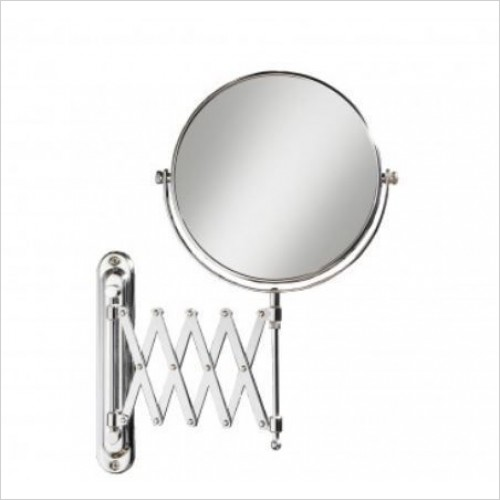 HIB Accessories - Rossi Circular Extendable Magnifying Mirror 20cm