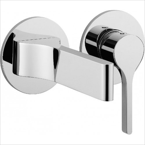 Crosswater Taps - Svelte Basin Set With Spout, Wall Mounted