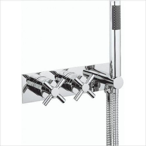 Crosswater Showers - Totti II Thermostatic Shower Valve 2 Control (Landscape)