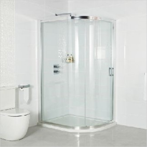 Roman Shower Enclosures - Embrace Single Door Offset Quadrant 800 x 1200mm