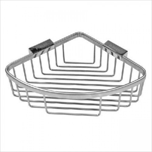 Roman Shower Accessories - Large Curved Corner Shower Basket