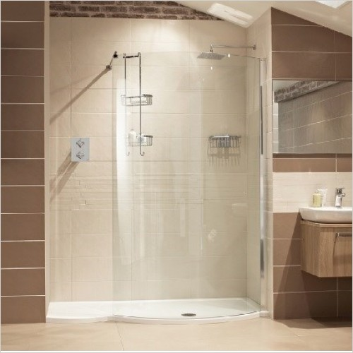 Roman Shower Enclosures - Lumin8 Colossus & Side Panel 1700mm