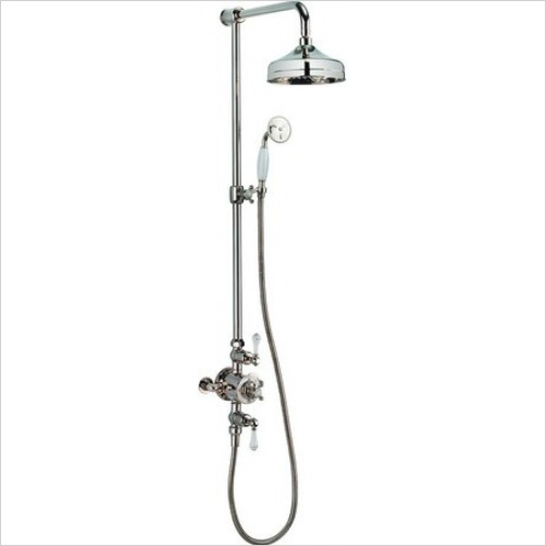 Crosswater Showers - Belgravia Thermostatic Shower Valve With 8'' Fixed Head