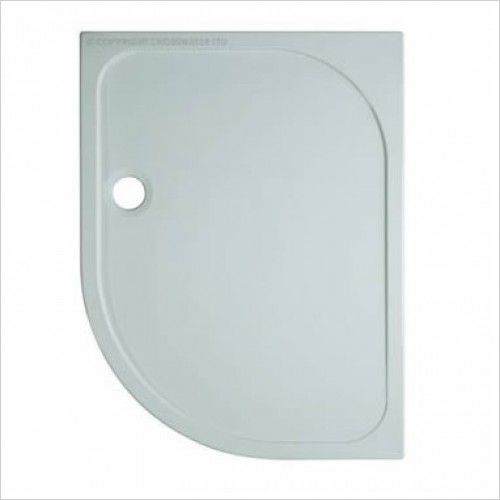 Crosswater Shower Enclosures - Stone Resin Offset Quad Shower Tray 800x1000 x 45mm
