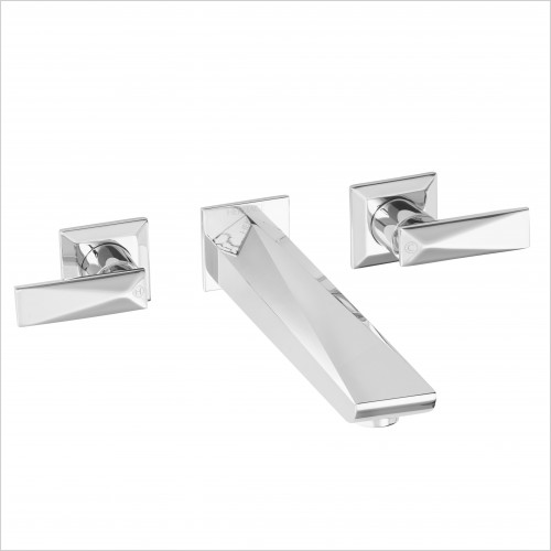 Heritage Taps - Hemsby Wall Mounted Bath Filler 3 Tap Hole