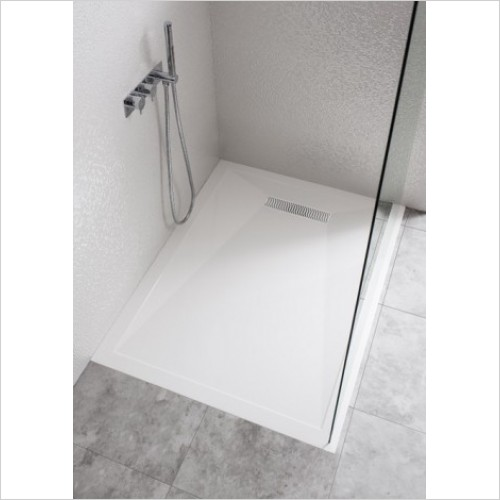 Crosswater Shower Enclosures - Stone Resin Tray 900mm Linear Waste
