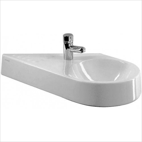 Duravit - Basins - Architec Handrinse Basin 650mm Diagonal Model Basin On Right