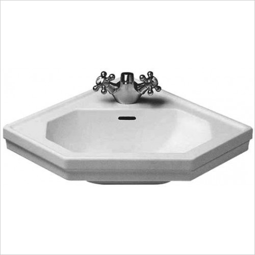 Duravit - Basins - 1930 Series Handrinse Basin 595mm Corner Model 1 Tap Hole