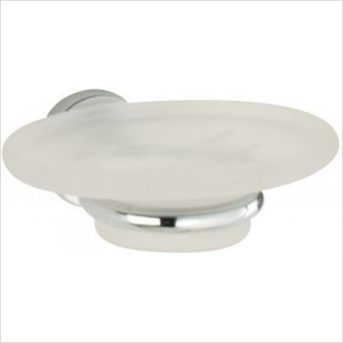 Roper Rhodes Accessories - Minima Frosted Glass Soap Dish & Holder