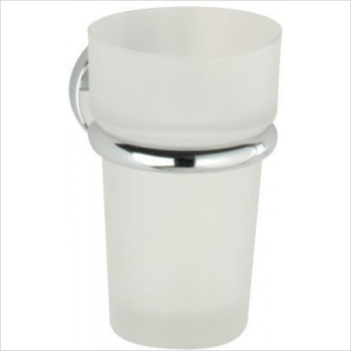 Roper Rhodes Accessories - Minima Frosted Glass Tumbler & Holder