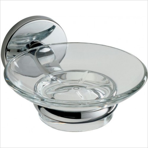 Roper Rhodes Accessories - Lincoln Glass Soap Dish & Holder