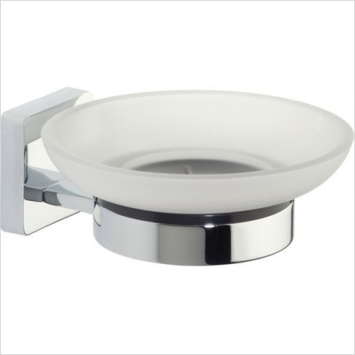 Roper Rhodes Accessories - Glide Frosted Glass Soap Dish & Holder