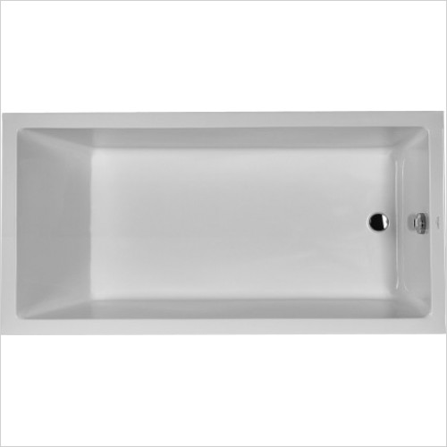 Duravit Baths - Starck Bathtub 180x90cm Built-In, W. 1 Slope, W. Overflow