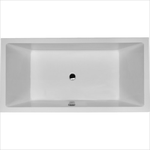 Duravit Baths - Starck Bathtub 180x90cm Built-In, W. 2 Slopes, W. Overflow