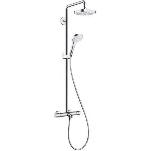 Hansgrohe Showers - Croma Select E 180 2 Jet Bathroom Showerpipe For Bath