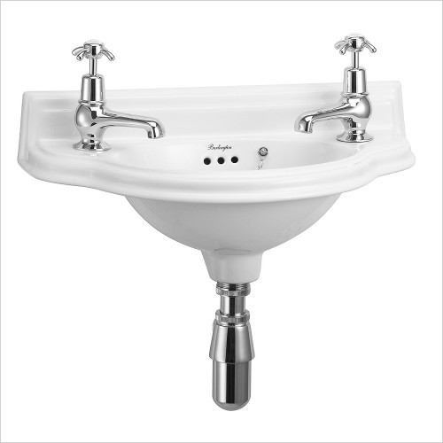 Burlington Basins - 2H 505 Small Curved Front Basin