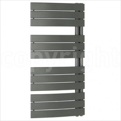 Crosswater Heating - Essence Curved Straight Panel Towel Warmer 550 x 1380mm