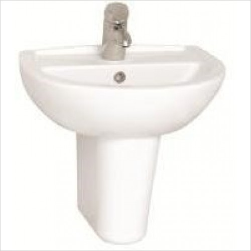 Vitra Basins - Layton Cloakroom Basin 50cm 1TH