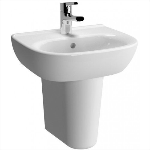 Vitra Basins - Zentrum Washbasin 45cm 1TH