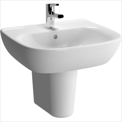 Vitra Basins - Zentrum Washbasin 55cm 1TH