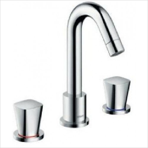 Hansgrohe Showers - Logis 3 Hole Rim Mounted 2 Handle Bath Mixer