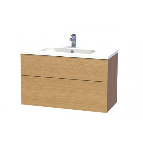 Miller Furniture - New York Vanity Unit 100cm With 2 Drawers