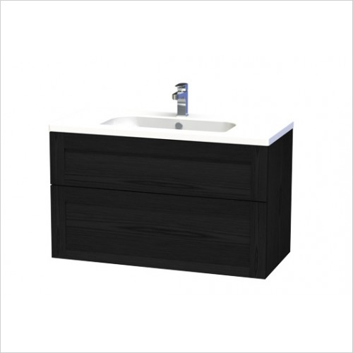 Miller Furniture - London Vanity Unit 100cm With 2 Drawers