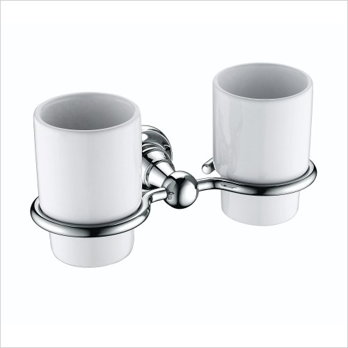 Heritage Accessories - Holborn Double Tumbler & Holder