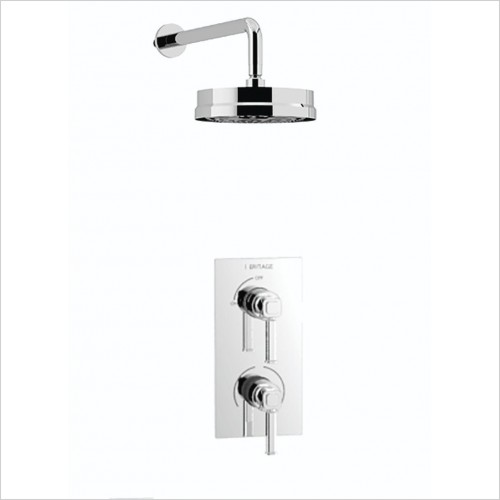 Heritage Showers - Somersby Recessed Shower With Deluxe Adjustable Riser