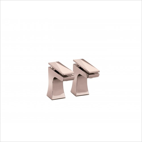 Heritage Taps - Hemsby Traditionall Basin Taps in Rose Gold