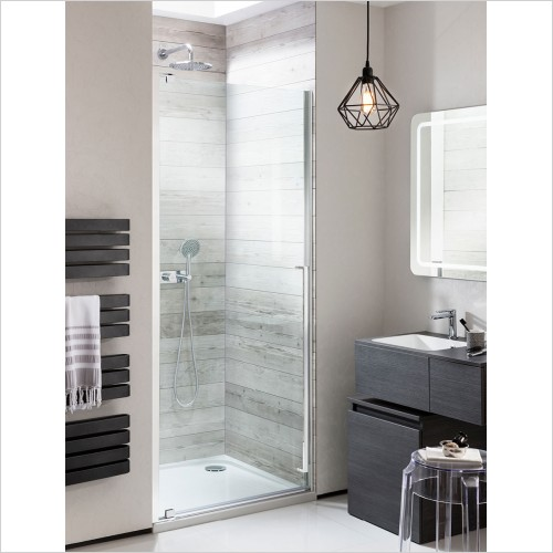Crosswater Shower Enclosures - Pier 1000mm Side Panel for Hinged Shower Door