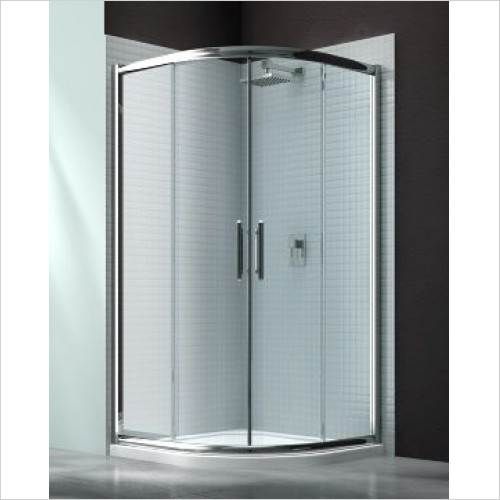 Merlyn Shower Enclosures - 6 Series 2 Door Quad 1000mm Incl MStone Tray