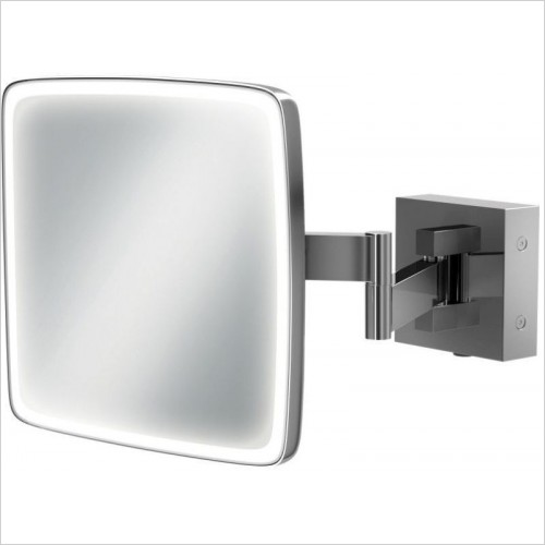 HIB Accessories - Eclipse Square Magnifying Mirror 18 x 18cm