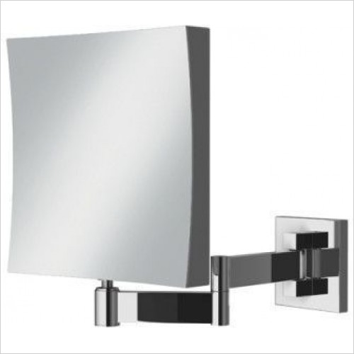 HIB Accessories - Helix Square Magnifying Bathroom Mirror 17 x 17cm