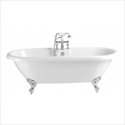 Heritage Bathtubs - Oban 1760 x 790mm Acrylic Double Ended Roll Top Bath 2TH