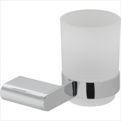 VADO Accessories - Photon Frosted Glass Tumbler & Holder Wall Mounted