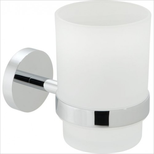VADO Accessories - Spa Frosted Glass Tumbler & Holder Wall Mounted